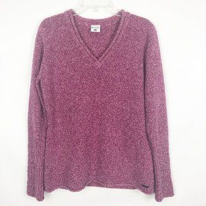 Columbia I Long Sleeve V-Neck Pink Sweater